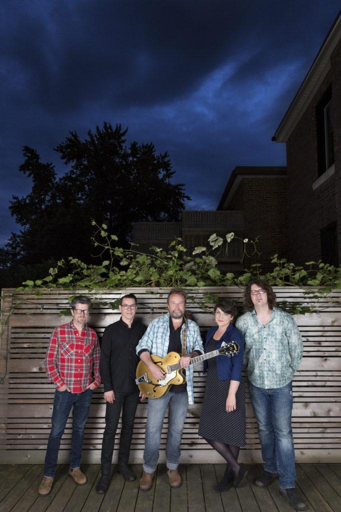 Left to Right: Andy Maize, Noel Webb, Josh Finlayson, Jessy Bell Smith, Derrick Brady. Photo by Heather Pollock