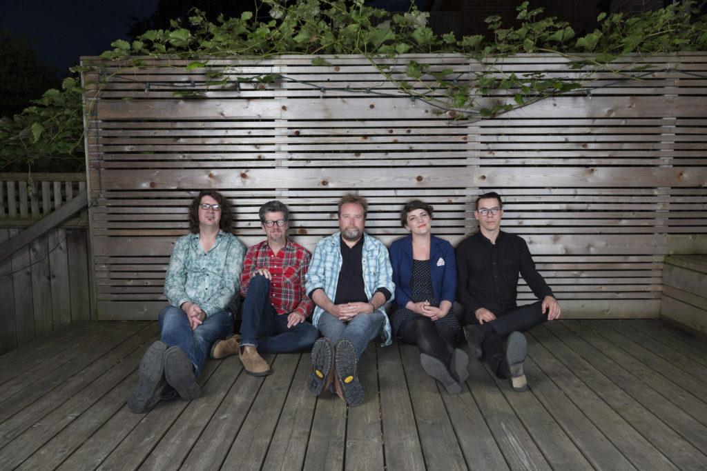 Left to Right: Derrick Brady, Andy Maize, Josh Finlayson, Jessy Bell Smith, Noel Webb. Photo by Heather Pollock