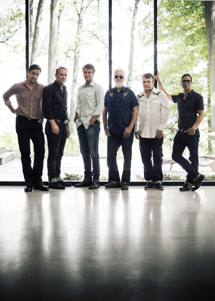 Left to Right: Michael Boguski, Colin Cripps, Jim Cuddy, Greg Keelor, Bazil Donovan, Glenn Milchem. Photo by Dustin Rabin.